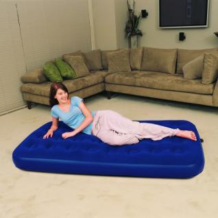 aufblasbares Velour-Gästebett, Luftbett, 188 x 99 cm, blau