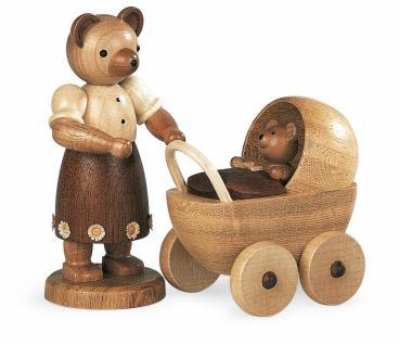 Müller-Kleinkunst aus dem Erzgebirge® seit 1899 Bärenmutter mit Kinderwagen