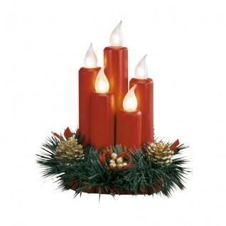 Tischdekoration Kerzen rot