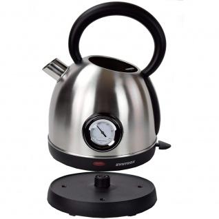 Syntrox 1, 8 Liter Edelstahl schnurlos Wasserkocher mit Thermometer 360° cordess Wasse - Vorschau 5