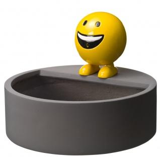 Ubbink Wasserspeier BE HAPPY Set, Polystone, H29 x Ø25 cm, gelb, inkl. Pumpe und Becken