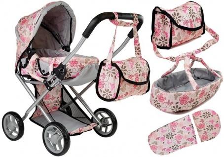 Alice Doll Puppenwagen Tragetasche Pink in Blumen
