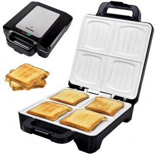 Syntrox Muschel Sandwichmaker XLC mit Keramikplatten Thermostat und Edelstahldekor
