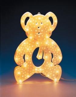 Hellum Fenster-Profillicht Teddybär 35 BS klar/weiß innen
