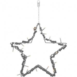 LED-Fensterbild Stern mit 20 warmweißen LEDs batteriebetrieben