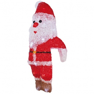 RiBa-Living LED-Weihnachtsmann weiße LEDs batteriebetrieben