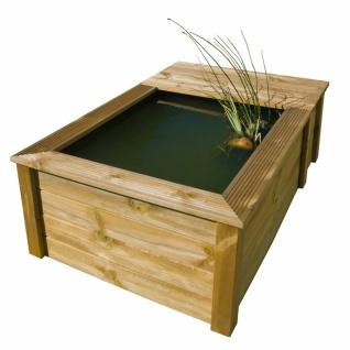 Ubbink Quadro Wood III Set - kesseldruckimprägnierte Holzumrandung