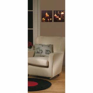 LED-Bild, 6 warmweiße LEDs, Kerzenmotiv