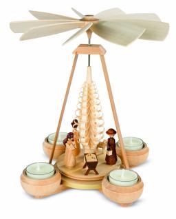 Müller-Kleinkunst aus dem Erzgebirge® seit 1899 Pyramide klein, Christi Geburt