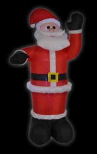 Selbstaufblasender Weihnachtsmann Santaclaus 180 cm, LED beleuchtet