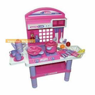 Spielküche, Kinderküche mit Licht und Sound mit Geschirr, Töpfen