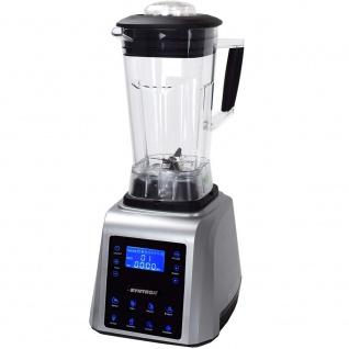 Syntrox Küchenmixer Standmixer Digital, BPA-FREI, 1800 Watt, 40000 U/Min, 2 Liter, 6 Edelstahlklingen - 7 Programme - LCD-Display - Zerkleinerer - Icecrusher - Getreidemühle - Vorschau 4