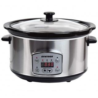 Syntrox Digitaler Slow Cooker 3, 5 Liter mit Timer