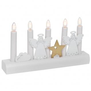 Weihnachtsleuchter JULIA Engel, 5 x E10/55V/3W,