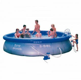 Fast Set Pool Komplett Set, 457 x 107 cm, inkl. Pumpe, Leiter, Plane