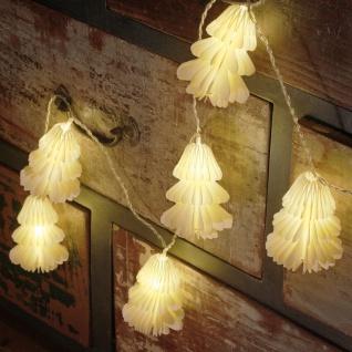 Konst Smide LED-Minilichterkette Papiertannenbäumchen mit 12 warmweißen LEDs - Vorschau 2