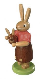 Müller-Kleinkunst aus dem Erzgebirge® seit 1899 Hasenpaar auf Bank
