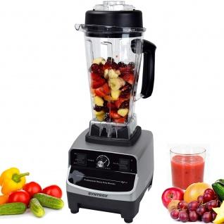 Syntrox Küchenmixer Standmixer BPA-frei, 1500 Watt, 40000 U/Min, 2 Liter, 6 Edelstahlklingen - LCD-Display - Zerkleinerer - Icecrusher - Getreidemühle