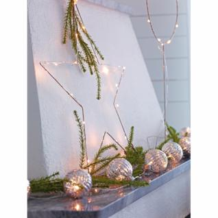 LED-Fensterbild, Stern, NORDGARD LED, 30 warmweiße LEDs