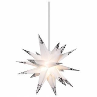 Weihnachtsstern, weiß, schwarze Verzierungen, Ø 50cm