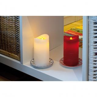 RiBa-Living LED-Echtwachskerze marmorierter roter Wachs - Vorschau 2