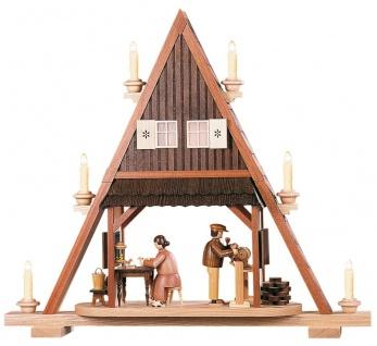 Müller-Kleinkunst aus dem Erzgebirge® seit 1899 - Giebelspitze Spielzeugmacher