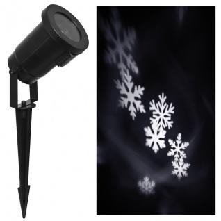 Näve LED-Projektor 4 LEDs rotierende Schneeflocken