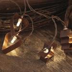 LED-Minilichterkette, GINGERBREAD, braune Backförmchen, 10 warmweiße LEDs, batteriebetrieben
