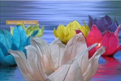 Wasserlaterne Lotusblume mit Teelicht Schwimmlaterne 1 Stück - Vorschau 2