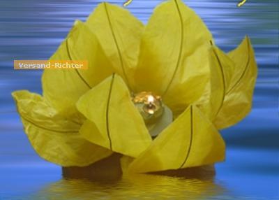 Wasserlaterne Lotusblume mit Teelicht Schwimmlaterne 1 Stück - Vorschau 3