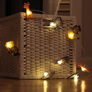 LED-Minilichterkette, 8 warmweiße LEDs, Zoolight wilde Tiere, batteriebetrieben - Vorschau 2
