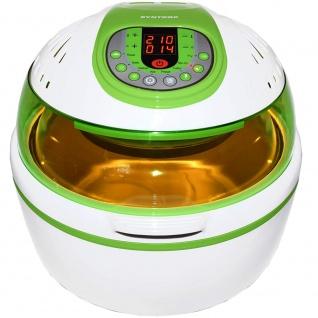 Syntrox Turbo-Heißluftfritteuse Heißluftgarer Airfryer Küchenmaschine mit LED-Display grün - Vorschau 3