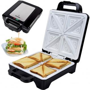 Syntrox Sandwichmaker XLC mit Keramikplatten Thermostat und Edelstahldekor