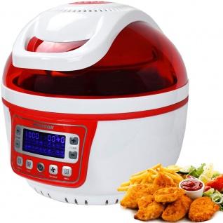 """Syntrox Turbo-Heißluftfritteuse Heißluftgarer Airfryer Küchenmaschine mit LED-Display """" rot"""" - Vorschau 1"""