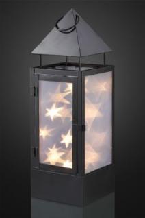 LED-Laterne aus Metall schwarz aussen