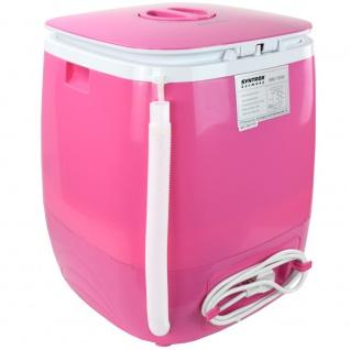 Syntrox 2, 0 Kg Waschmaschine Miniwaschmaschine mit Timer und Schleuder 150 W pink - Vorschau 4