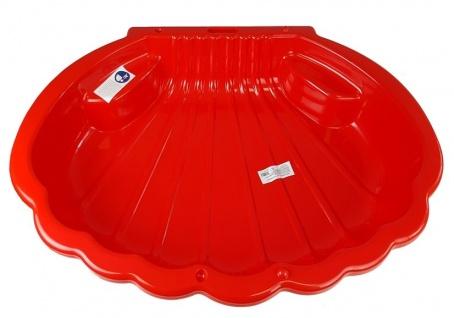Sandkasten Schwimmbad Muschel Rot 2075