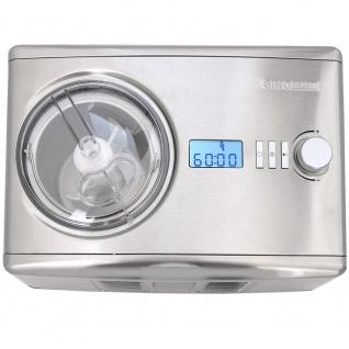 Syntrox Digitale Eismaschine mit Kompressor Softeismaschine und Joghurt-Bereiter 1, 5