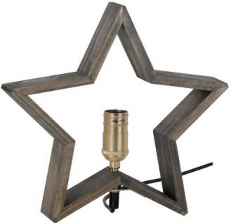 STAR Trading Holzstern ''LYSeKIL'' 30cm natur/braun innen