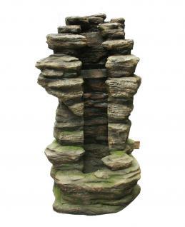 AquaArte Ubbink Wasserfall Gartenbrunnen Zierbrunnen Wasserspiel Springbrunnen Wasserfall Cleveland Felsstruktur LED-Beleuchtung