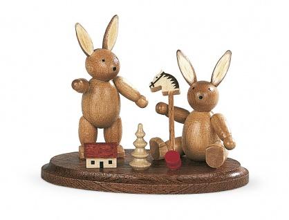 Müller-Kleinkunst aus dem Erzgebirge® seit 1899 Zwei spielende Hasenkinder