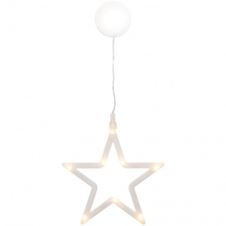 Fensterbild, 8 warmweiße LEDs, weißer Stern - Vorschau 2