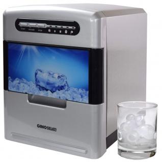 Syntrox Digitaler Edelstahl Eiswürfelbereiter mit Bedienfeld und Kontrollleuchten