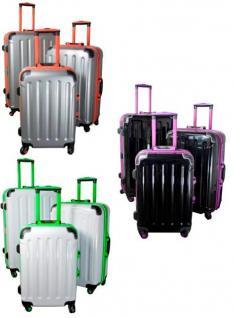 Kofferset 3 tlg. Trolleyset ABS Hartschale ODESSA mit TSA-Schloss