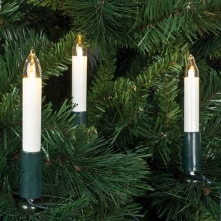 LED-Weihnachtsbaumkette, klar/elfenbein , 15 Lichter
