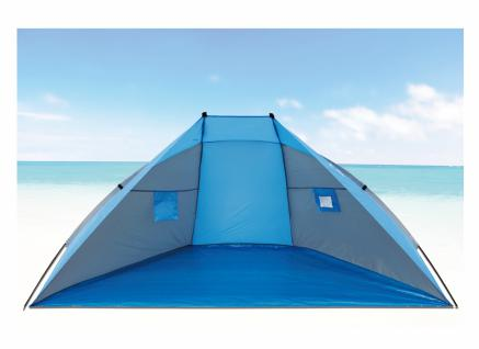 Strandmuschel aus Polyester UPF 80+, 270 x 120 x 120 cm