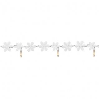 Mark Slöjd LED-Minilichterkette SNÖSTJÄRNA Schneeflocken Kunststoff mit 20 warmweißen LEDs batteriebetrieben