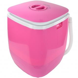 Syntrox 2, 0 Kg Waschmaschine Miniwaschmaschine mit Timer und Schleuder 150 W pink - Vorschau 2