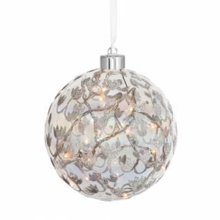 LED-Glaskugel, 15 warmweiße LEDs, ALBA