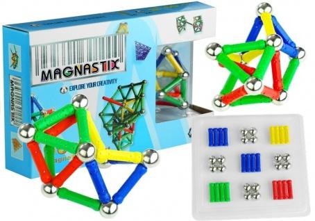 Magnetbausteine MAGNASTIX 60 Elemente Bausteine Magnet-Formenspiel Set